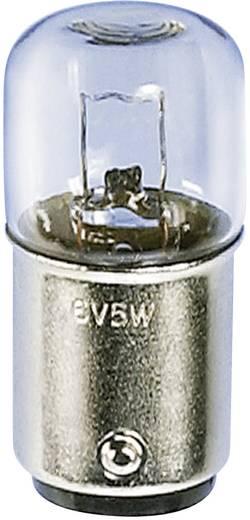 Cső izzó 24 V 5 W 200 mA, BA15d, átlátszó, Barthelme 00142405