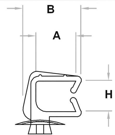 Miniatűr kábeltartó, dugaszolható KWS1310, natúr KSS, tartalom: 1 db
