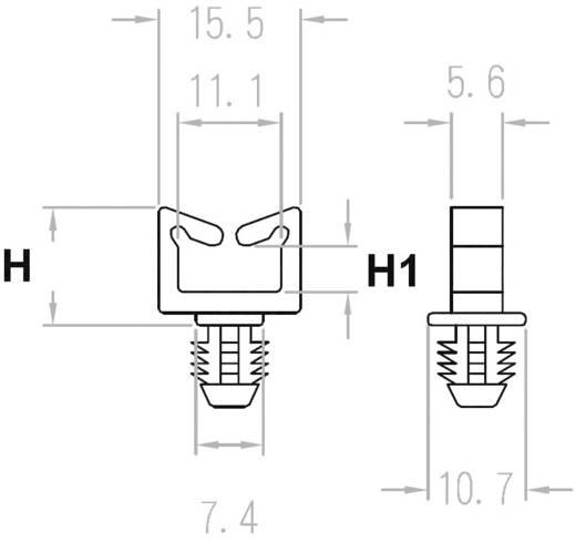 Miniatűr kábeltartó, dugaszolható BWS1120, natúr KSS, tartalom: 1 db
