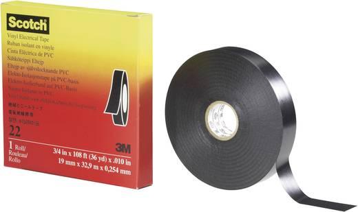 PVC elektromos szigetelőszalag, 33 m x 19 mm, fekete, 3M Scotch 22, 80-0120-1704-4