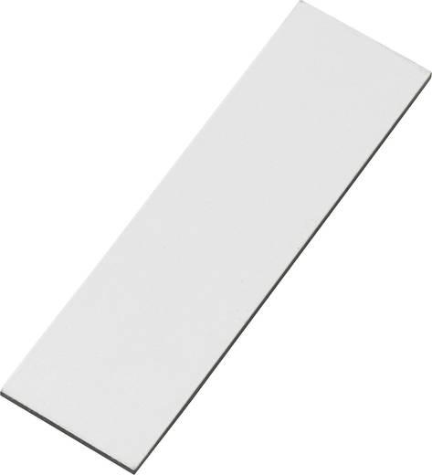 Mágneslap fehér feliratozó felülettel 67 mm x 20 mm fehér N35 Neodymium nikkelezett Conrad