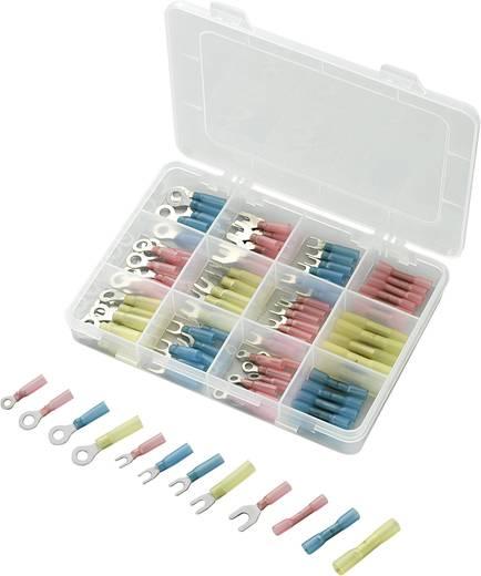 Roppantós kábelsaru készlet, 0.5 mm² 6 mm² kék, sárga, piros, Conrad 104 db