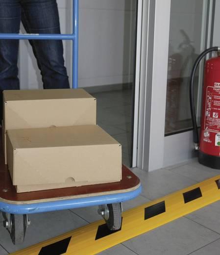"""Kábelcsatorna, lépésálló 1.5 m x 150 mm sárga, fekete Serpa """"Security"""""""