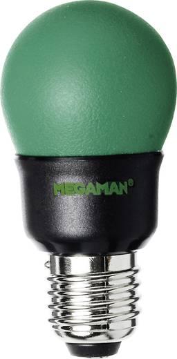 Energiatakarékos lámpa 141 mm Megaman 230 V E27 7 W Zöld