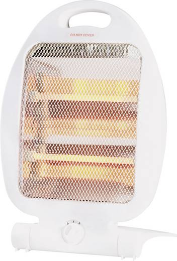 Kvarc hősugárzó, 400/800 W, 230 V/50 Hz, fehér, 950 g