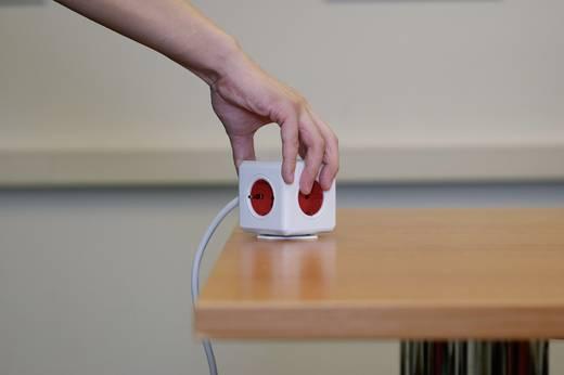 Asztali hálózati elosztó 5 részes fehér/piros, Segula Powercube USB nélkül