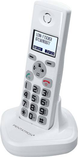 Kaputelefon és dect telefon szett, 1 családi ház részére, antracit/fehér