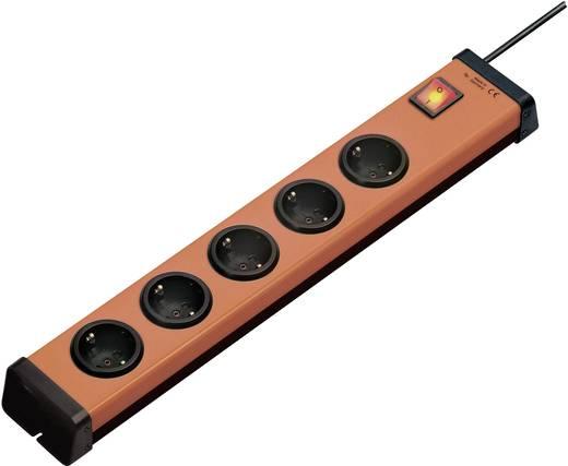 Hálózati elosztó kapcsolóval, 5 részes, narancs/fekete, Ehmann 0201x00052g01