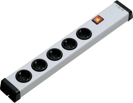 Hálózati elosztó kapcsolóval, 5 részes, fehér, szerelhető, Ehmann 0201x00052300
