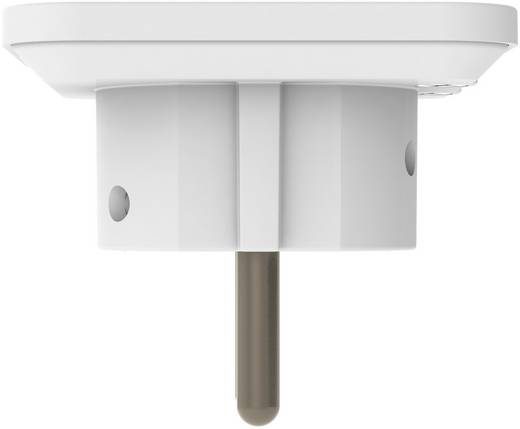 Lapos hálózati csatlakozó dugó, fehér, Sygonix 33986W