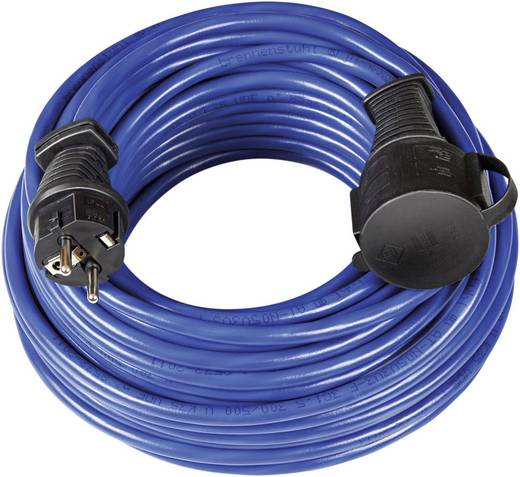 Kültéri, gumi hálózati hosszabbítókábel védőkupakkal, kék, 10 m, N05V3V3-F 3G 1,5 mm² , Brennenstuhl 1169810