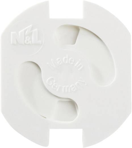 Gyermekvédő konnektor zár, vakdugó, 5 db, fehér, Heidemann 43180