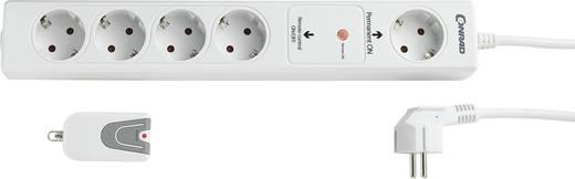 Rádiós távirányítóval kapcsolható elosztó 1+4 részes fehér