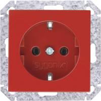 Fali földelt dugalj betét, piros, Sygonix SX.11 33526V Sygonix