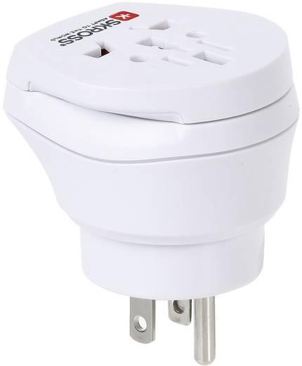 Úti adapter USA/univerzális aljzat, fehér, Skross 1.500204