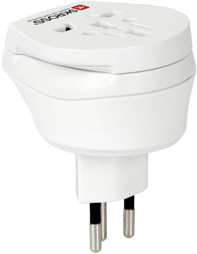Úti adapter Svájc/univerzális aljzat, fehér, Skross 1.500206