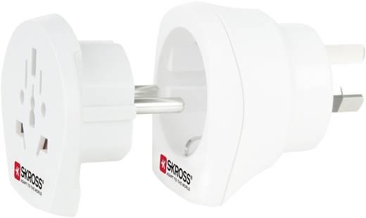 Úti adapter Ausztrália-Kína/univerzális aljzat, fehér, Skross 1.500210