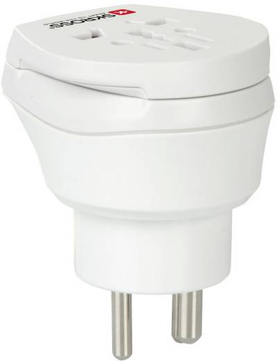 Úti adapter Dánia/univerzális aljzat, fehér, Skross 1.500214