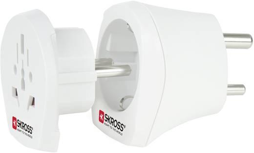 Úti adapter India/univerzális aljzat, fehér, Skross 1.500215
