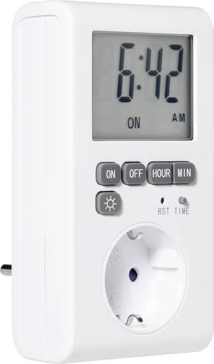 Digitális napi időkapcsoló óra konnektorba, IP20, 230 V/50 Hz, 1 program, GAO EMT769AET2