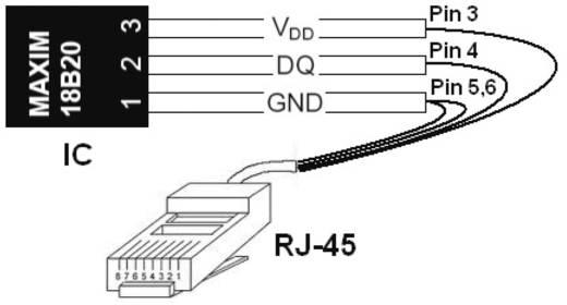 Hőmérséklet érzékelő, műanyag, H-Tronic 1114440