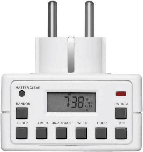 Goobay digitális heti időkapcsoló óra konnektorba, 3500W, 10 program, IP20, 93256