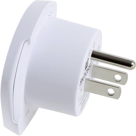 Úti adapter USA/univerzális aljzat, fehér, Skross 1.500221
