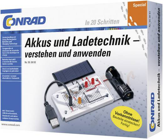 Tanulókészlet: Akkumulátorok és töltőtechnikák, 14 éves kortól, Conrad 10127