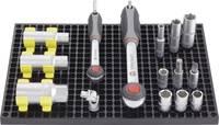 Szerszámtároló tábla 2 db, 80 részes tartozék készlettel 194mm x 278mm x 12mm Toolcraft TOOLCRAFT