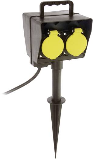 Leszúrható kerti elosztó időkapcsolóval, 2 részes, fekete, AS Schwabe 60685