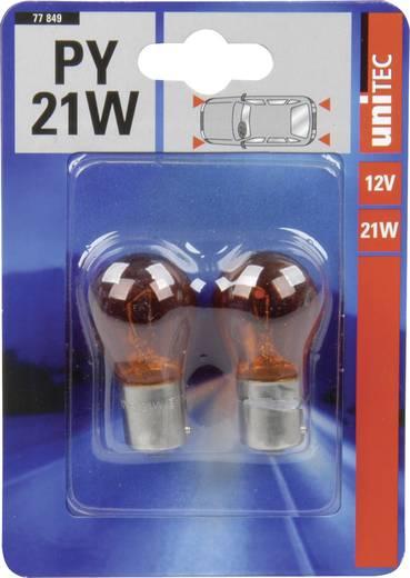 Unitec Standard fényforrás PY21W 12 V 1 pár BAU 15s Narancs