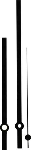 Óramutató készlet, alumínium, fekete, sliccelt, 100X140X100 mm, Standard