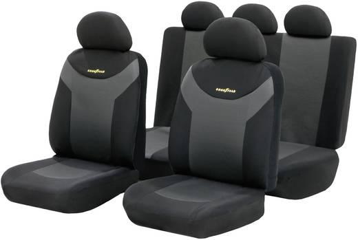 Univerzális autós üléshuzat készlet, 9 részes, antracit/fekete, Goodyear 75529