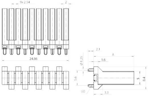 Fényvezető SMD MiniTOP LED-hez, álló, Mentor 1274.2020