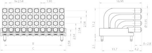 Miniatűr többszörös fényvezető 0603 SMD LED-hez, fekvő, Mentor 1296.2024