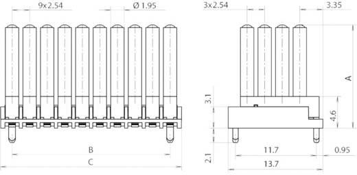 Miniatűr többszörös fényvezető 0603 SMD LED-hez, álló, Mentor 1296.7054