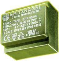 El 30/10,5 Nyák transzformátor SPK, 230 V / 12 V 125 mA 1,5 V, ASPK 01412 Spitznagel (SPK 01412) Spitznagel