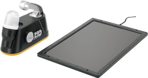Hordozható napelemes töltő készlet LED-es lámpával, E 27 foglalattal, fekete, 5,7 kg, Voltcraft Solar Power Kit