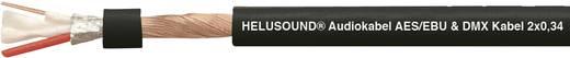 Audio vezeték, AES/EBU & DMX-Kabel 2 x 0,34 mm² Fekete méteráru Helukabel