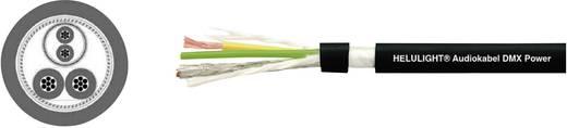 Audio vezeték, DMX Power (1 x 2 x 0,24) + 2 x 1 mm² Fekete méteráru Helukabel