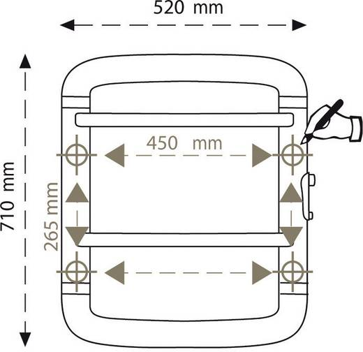 Elektromos törölközőszárító 300W, fehér/szürke, Radialight Acanto 70