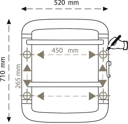 Törölközőszárító 300W, fehér/szürke, Radialight Acanto 70
