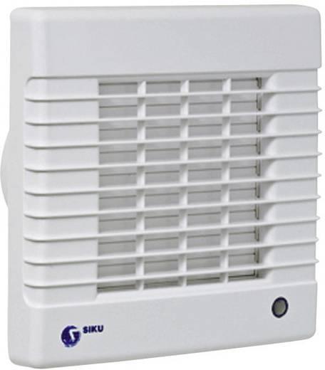 Fali és mennyezeti szellőző ventilátor zsaluval, beépített hygrosztáttal, Ø 100 mm, fehér, SIKU 27944