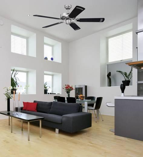 5 lapátos mennyezeti ventilátor, Ø 132 cm, fekete/ezüst, Westinghouse Cyclone 78370
