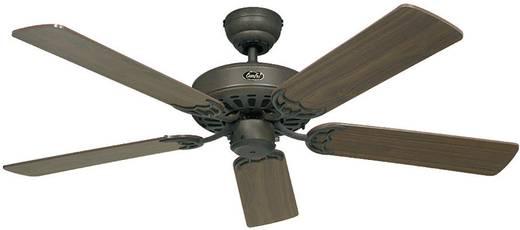 Mennyezeti ventilátor, 5 lapátos, Ø 132 cm, mogyorófa/barna, CasaFan Classic Royal 132 BA