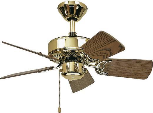 Mennyezeti ventilátor, 5 lapátos, Ø 75 cm, tölgy/sárgaréz, CasaFan Classic Royal 75 MP