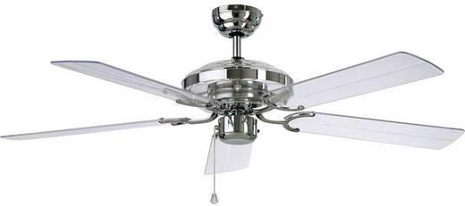 Mennyezeti ventilátor, 5 lapátos, Ø 132 cm, akril, króm/akril üveg, CasaFan Acrylic