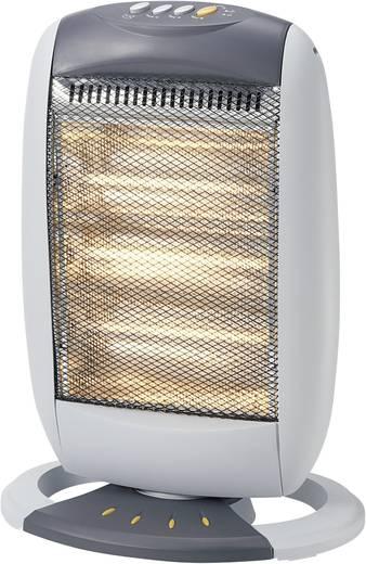 Halogén hősugárzó 400/800/1200W, ezüst/fekete, 30 m², Basetech YQ-12