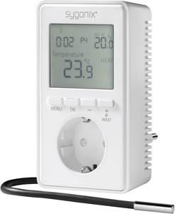 Univerzális konnektoros termosztát kijelzővel, -20 ... 70 °C, Sygonix tx.3 38923W (38923W) Sygonix