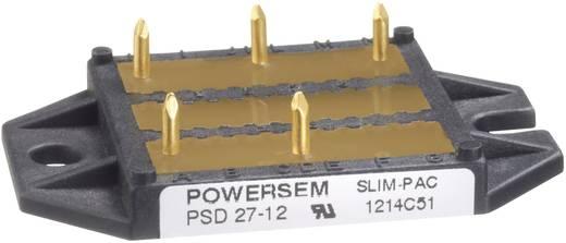 3 fázisú teljesítmény egyenirányító, névleges áram: 28 A , U(RRM) 1200 V, POWERSEM PSD 27-12